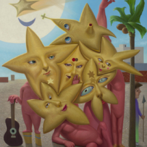 Michael Abraham Star Cluster 2016 oil on linen 44 x 36 inches web size