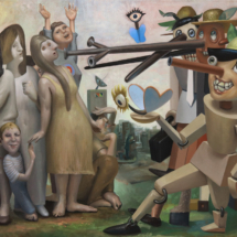 Pinocchio Assault - Michael Abraham - oil on canvas - 24x36 inches-2019